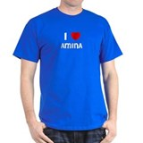 I LOVE AMINA Black T-Shirt