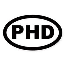 PHD Car Oval Bumper Stickers
