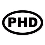 PHD Car Oval Stickers