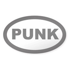 Punk Car Oval Decal