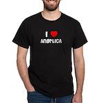I LOVE ANGELICA Black T-Shirt