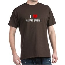 I LOVE ASIAN GIRLS Black T-Shirt