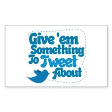 Tweet Blue Bird Rectangle Decal