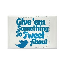 Tweet Blue Bird Rectangle Magnet