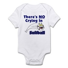 There's No Crying In Softball Infant Bodysuit