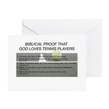 God Loves Tennis Greeting Card