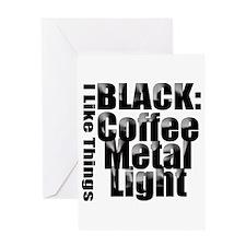 BLACK METAL Greeting Card