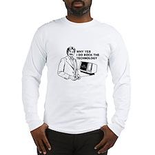 Dudes Rock the Technology Long Sleeve T-Shirt