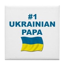 #1 Ukrainian Papa Tile Coaster