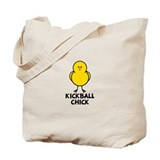 Kickball Chick Tote Bag