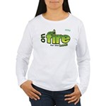 On Fire for the Lord 2 green Women's Long Sleeve T
