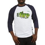 On Fire for the Lord 2 green Baseball Jersey
