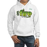 On Fire for the Lord 2 green Hooded Sweatshirt