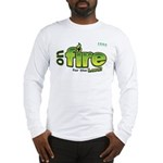 On Fire for the Lord 2 green Long Sleeve T-Shirt