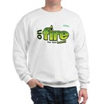 On Fire for the Lord 2 green Sweatshirt