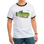 On Fire for the Lord 2 green Ringer T