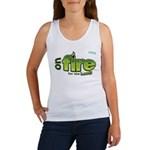 On Fire for the Lord 2 green Women's Tank Top