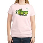 On Fire for the Lord 2 green Women's Light T-Shirt