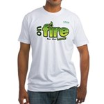 On Fire for the Lord 2 green Fitted T-Shirt