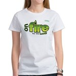 On Fire for the Lord 2 green Women's T-Shirt
