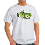 On Fire for the Lord 2 green Light T-Shirt