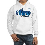 On Fire for the Lord 2 blue Hooded Sweatshirt