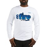On Fire for the Lord 2 blue Long Sleeve T-Shirt
