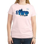 On Fire for the Lord 2 blue Women's Light T-Shirt