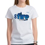 On Fire for the Lord 2 blue Women's T-Shirt