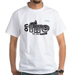 On Fire for the Lord 2 black White T-Shirt