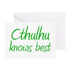 Cthulhu Knows Best Greeting Card