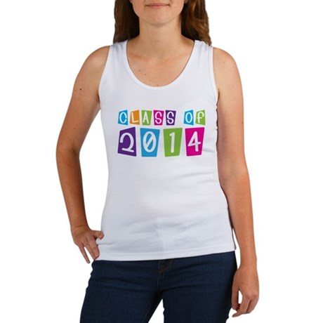 Colorful Class Of 2014 Women's Tank Top