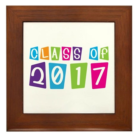 Colorful Class Of 2017 Framed Tile