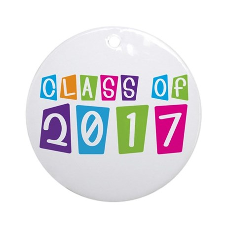 Colorful Class Of 2017 Ornament (Round)