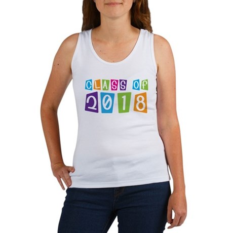 Whimsical Class Of 2018 Women's Tank Top