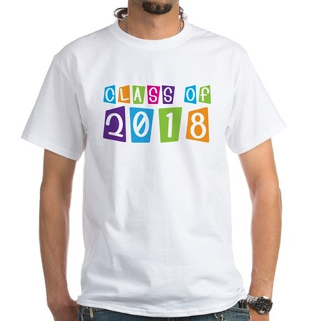 Whimsical Class Of 2018 White T-Shirt