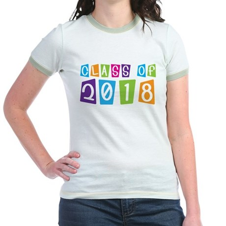 Whimsical Class Of 2018 Jr. Ringer T-Shirt
