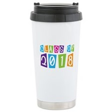 Whimsical Class Of 2018 Ceramic Travel Mug