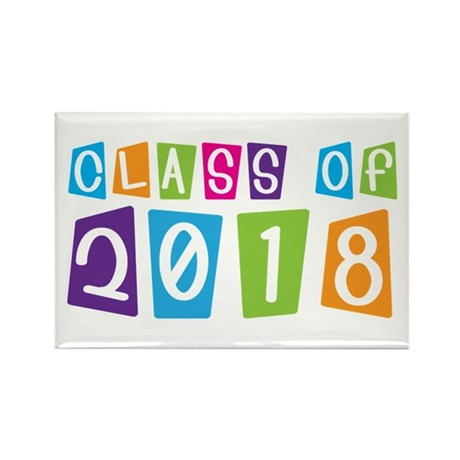 Whimsical Class Of 2018 Rectangle Magnet