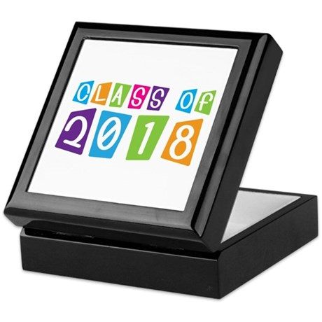 Whimsical Class Of 2018 Keepsake Box