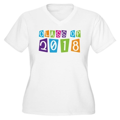Whimsical Class Of 2018 Women's Plus Size V-Neck T