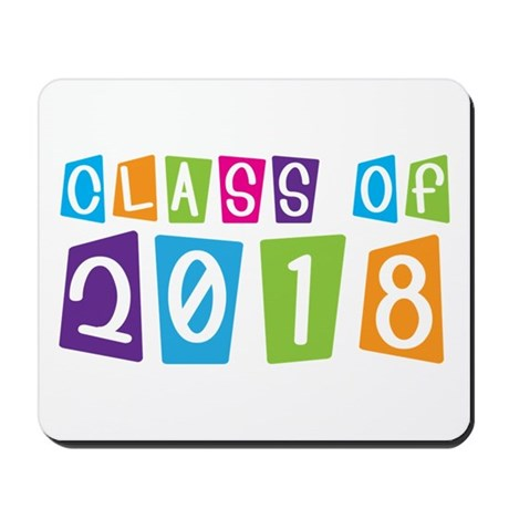 Whimsical Class Of 2018 Mousepad