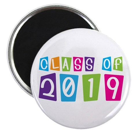Colorful Class Of 2019 Magnet