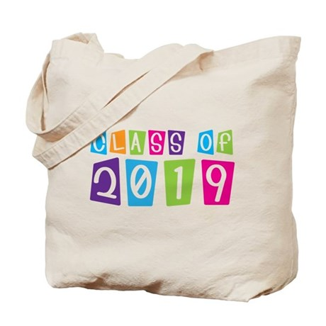 Colorful Class Of 2019 Tote Bag