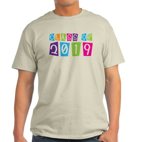 Colorful Class Of 2019 Light T-Shirt