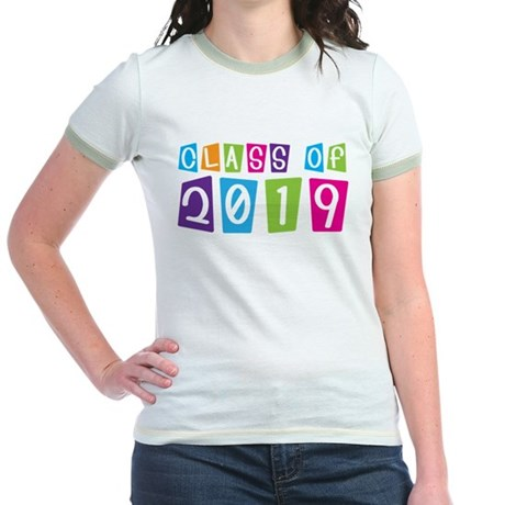 Colorful Class Of 2019 Jr. Ringer T-Shirt