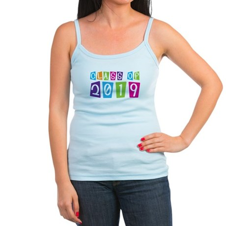 Colorful Class Of 2019 Jr. Spaghetti Tank