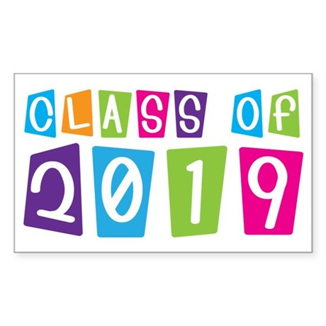 Colorful Class Of 2019 Rectangle Sticker 50 pk)