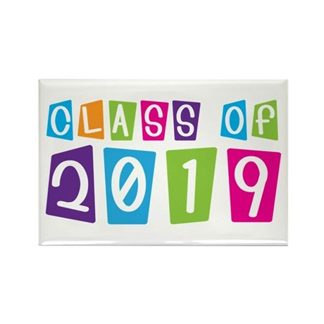 Colorful Class Of 2019 Rectangle Magnet
