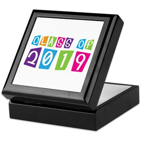 Colorful Class Of 2019 Keepsake Box